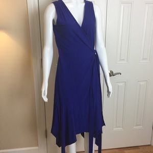 Athleta Windward Wrap Dress Blue XS